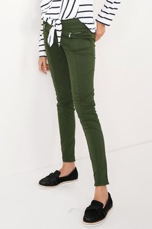 Next Zip Detail Skinny Trousers - Petite - 204235
