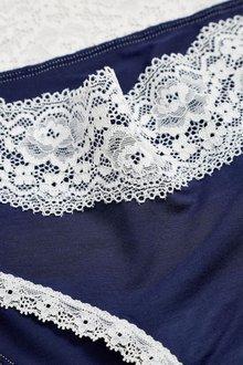 Next Lace Trim Modal Shorts Three Pack - 204263