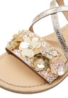 Next Gold Embellished Flower Sandals (Older Girls)