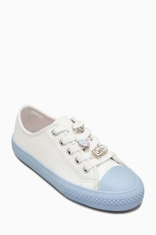 Next White/Blue Trainers With Badges (Older Girls)