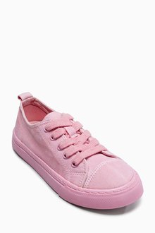 Next Washed Lace-Up Trainers (Older Girls)