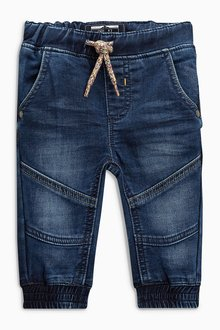 Next Jersey Denim Cuffed Pull-On Jeans (3mths-6yrs)