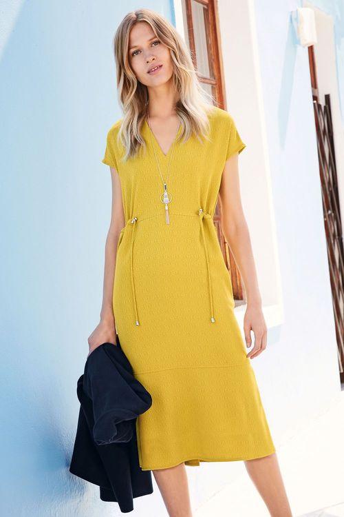 Next Textured Crepe Dress - Petite