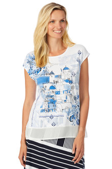 Noni B Kayla Printed Top