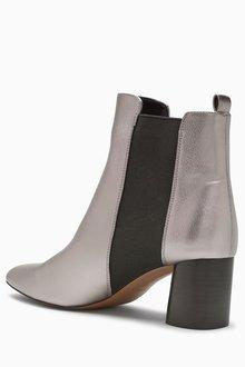 Next Round Heel Chelsea Boots - 204395