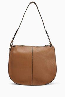 Next Leather Large Shoulder Bag