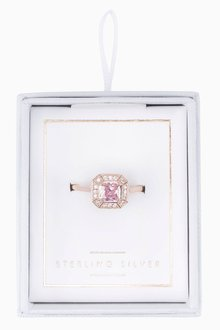 Next Square Stone Ring