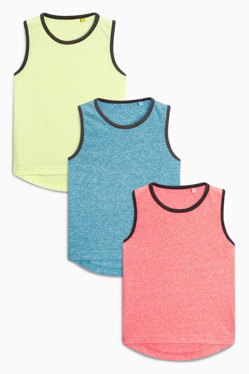 Next Coral Vests Three Pack (3mths-6yrs)