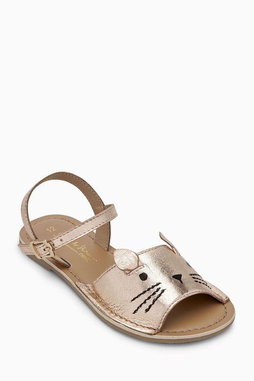 Next Cat Peep Toe Sandals (Younger Girls)