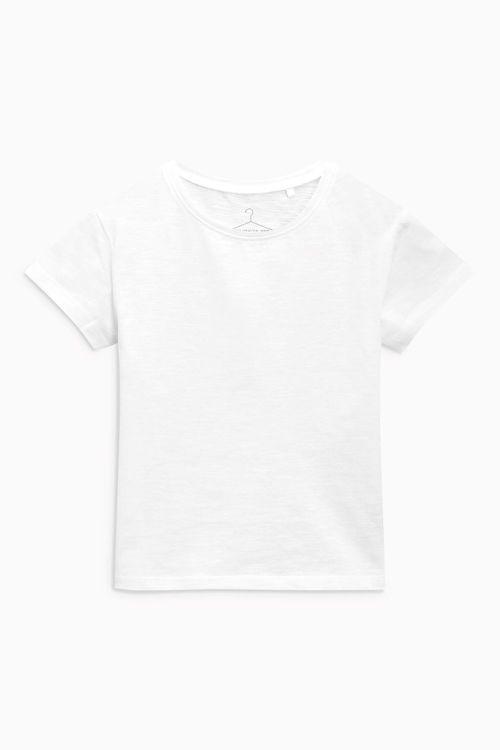 Next White Basic T-Shirt (3mths-6yrs)