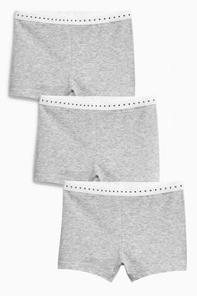 Next Grey Modesty Shorts Three Pack (3-16yrs)
