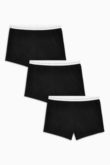 Next Black Modesty Shorts Three Pack (3-16yrs)