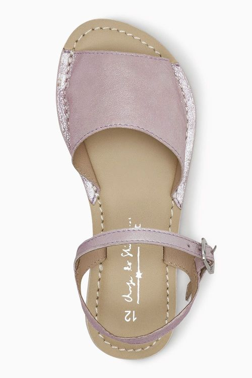 Next Lilac Peep Toe Sandals (Older Girls)