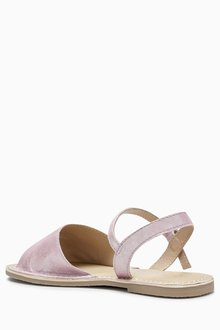 Next Lilac Peep Toe Sandals (Older Girls) - 204481