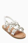 Next Leather Flower Sandals (Younger Girls)