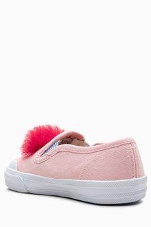 Next Flamingo Pom Skate Shoes (Younger Girls)