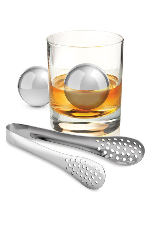 Avanti Stainless Steel Ice Ball Set with Tongs