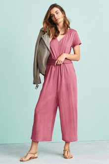 Next Pink Twist Jumpsuit - Tall