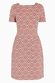 Next Geo Jacquard Dress - Tall