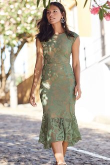 Next Flute Hem Lace Dress - Tall