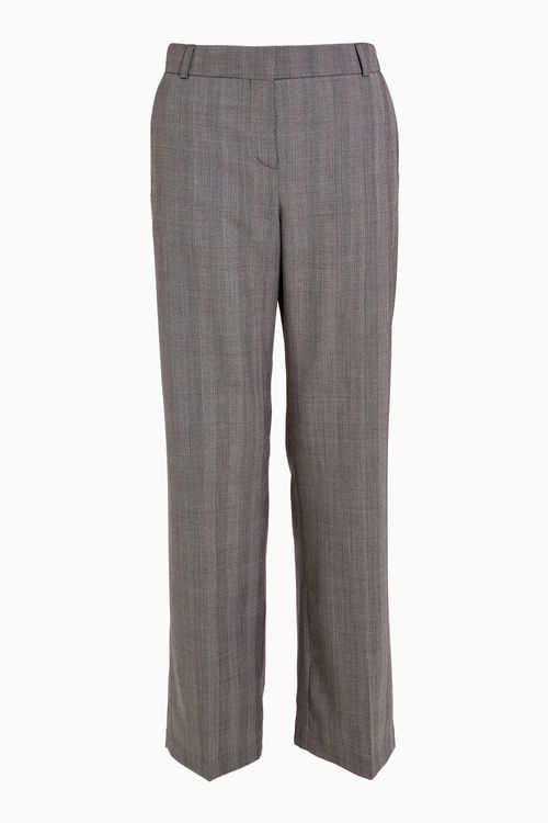 Next Wool Blend Check Trousers