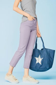 Next Soft Touch Straight Crop Jeans - Petite