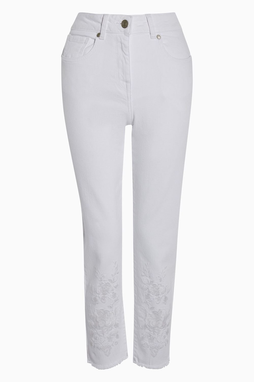 Next Embroidered Cropped Jeans - Petite Online | Shop EziBuy