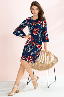 Capture Flute Sleeve Dress