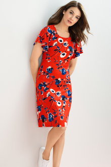 Capture Flutter Sleeve Dress