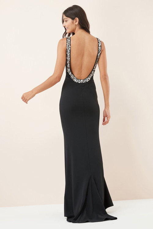 Next Embellished Back Detail Prom Dress
