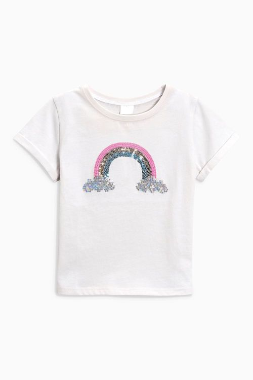 Next Rainbow Sequin T-Shirt (3mths-6yrs)
