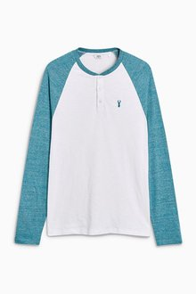 Next Long Sleeve Embroidered Raglan Top