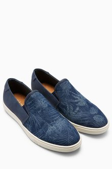 Next Printed Canvas Slip-On