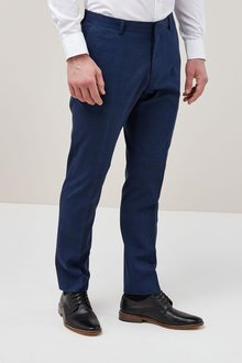 Next Slim Fit Machine Washable Performance Suit: Trousers