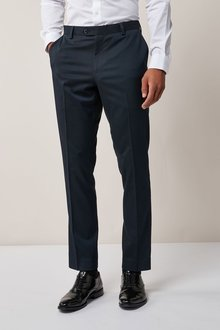 Next Stretch Twill Suit: Trousers - Slim Fit
