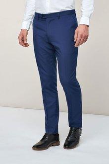 Next Plain Front Trousers - Slim Fit