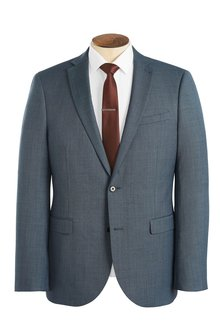 Next Wool Blend Suit: Jacket - Slim Fit