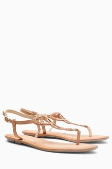 Next Leather Toe Post Sandals