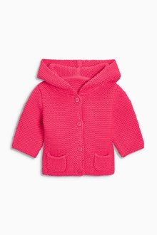 Next Red Hooded Cardigan (0mths-2yrs)