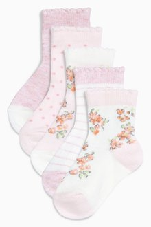 Next Bunny Socks Five Pack (Younger Girls) - 204820
