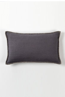 Linen Look Blanket Stitch Breakfast Cushion