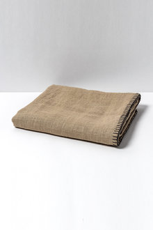 Linen Look Blanket Stitch Throw