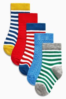 Next Bright Socks Five Pack (Younger Boys)