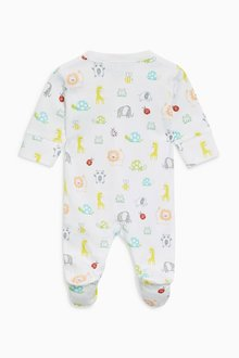 Next Bright Animal Sleepsuits Three Pack (0mths-2yrs)