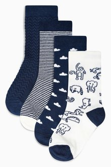 Next Cloud Socks Four Pack (Younger Boys)