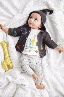 Next Animal Knit Cardigan (0mths-2yrs)