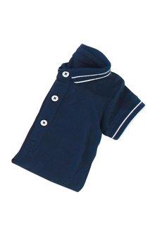 Next Navy Poloshirt Bodysuit (0mths-2yrs)
