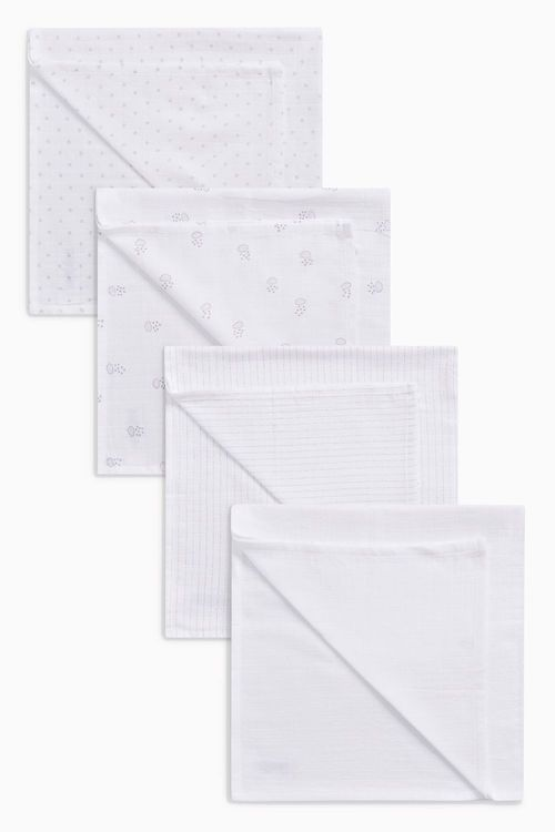 Next White Muslin Squares Four Pack