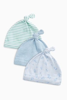 Next Transport Tie Top Hats Three Pack (0-18mths)