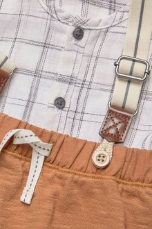Next Grid Shirt, Braces And Joggers Set (0mths-2yrs)